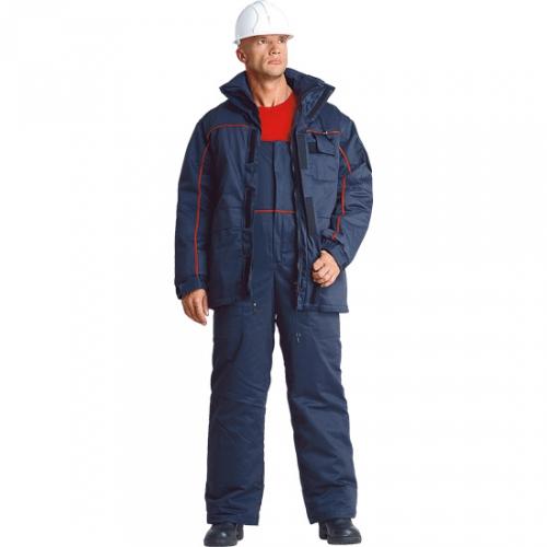 Куртка с полукомбинезоном из смесовой ткани(утепленный)  З-003